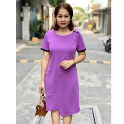 Đầm big size trung niên cách tân tà chéo
