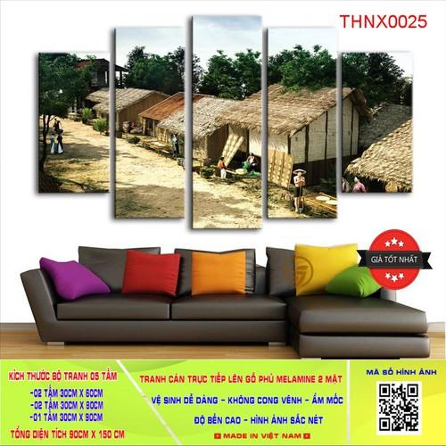 Tranh Hà Nội Xưa bộ 05 bức 90x150