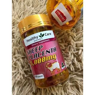 Viên uống Nhau thai cừu Healthy Care 5000mg - 100 viên - HTplacenta thumbnail