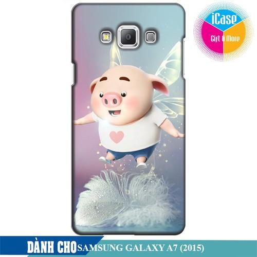 Ốp lưng nhựa dẻo dành cho Samsung Galaxy A7 in hình Heo Con Bay Bổng