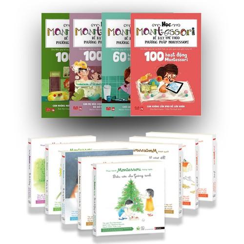Sách Montessori Bộ 4 Cuốn Học Về Montessori Và 8 Cuốn Thực Hành Hàng N