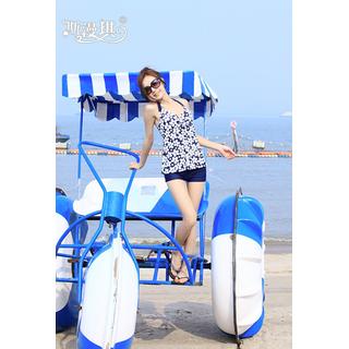 Bộ đồ bơi LOẠI 1 ,Đồ bơi short hoa trắng - TKN . thumbnail