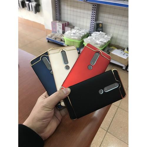 Ốp lưng điện thoại Nokia 6 2018 nhựa cứng viền mạ crom