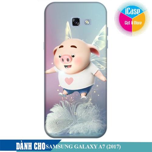Ốp lưng nhựa dẻo dành cho Samsung Galaxy A7 2017 in hình Heo Con Bay Bổng