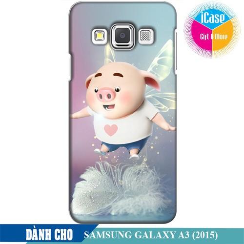 Ốp lưng nhựa dẻo dành cho Samsung Galaxy A3 in hình Heo Con Bay Bổng