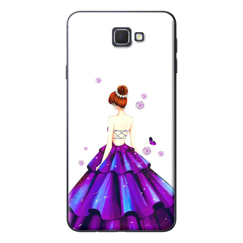 Ốp Lưng Dành Cho Samsung Galaxy J5 Prime, J7 Prime - Cô Gái Váy Tím - giá tốt