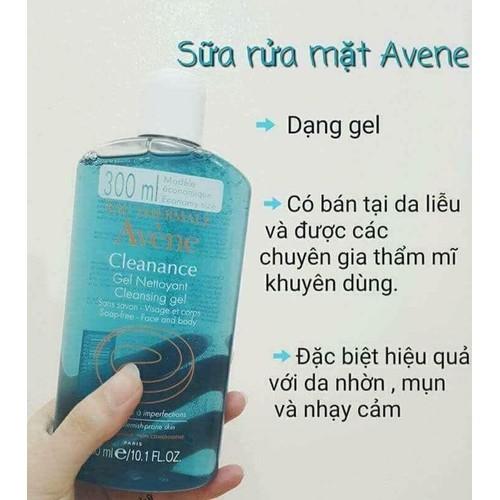 Gel Rửa Mặt Cho Da Nhờn Mụn Avene Cleanance Cleansing Gel