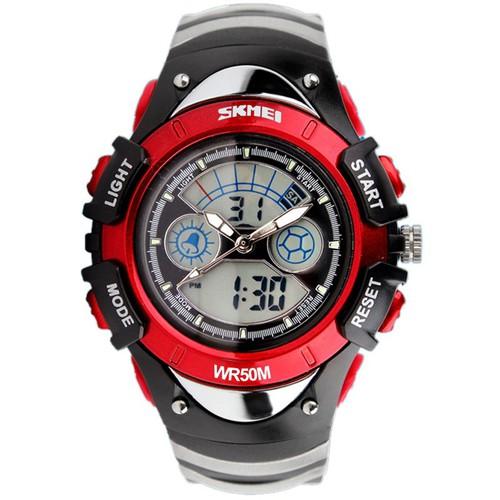 Đồng hồ trẻ em đồng hồ trẻ em skmei 0998 viền đỏ