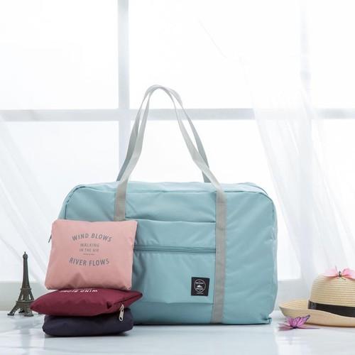 Túi du lịch gấp gọn có thể xách tay, gắn đầu kéo vali màu xanh lơ TDL07 - 6173825 , 16313791 , 15_16313791 , 215000 , Tui-du-lich-gap-gon-co-the-xach-tay-gan-dau-keo-vali-mau-xanh-lo-TDL07-15_16313791 , sendo.vn , Túi du lịch gấp gọn có thể xách tay, gắn đầu kéo vali màu xanh lơ TDL07