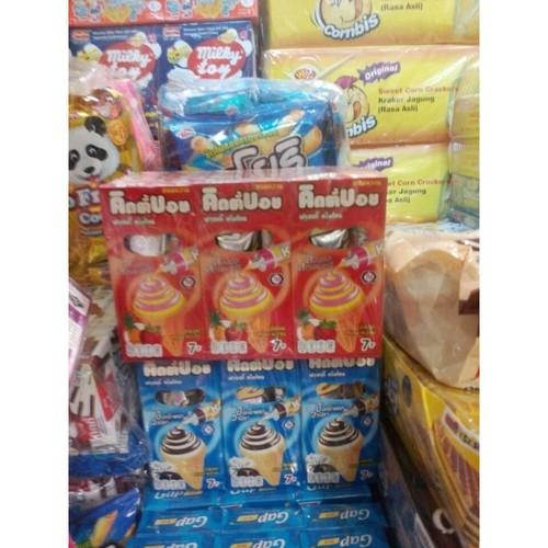 Bánh Ốc Quế Kem Kitty Boy Lốc 12 Hộp