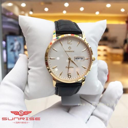 Đồng Hồ Nam Sunrise DM783SWA [ Chính Hãng Full Box ] Sapphire Chống Xước , Chống Nước
