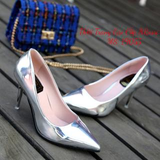 Giày Cao Gót Công Sở Màu Bạc Size 40 41 42 43 - 19055NR thumbnail
