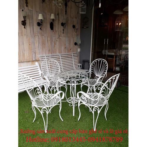 Bộ bàn ghế ngoài trời sắt mỹ nghệ bền đẹp. - 6178518 , 16317708 , 15_16317708 , 4550000 , Bo-ban-ghe-ngoai-troi-sat-my-nghe-ben-dep.-15_16317708 , sendo.vn , Bộ bàn ghế ngoài trời sắt mỹ nghệ bền đẹp.
