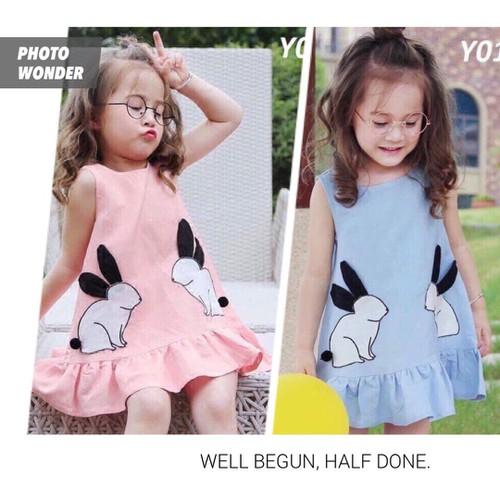 Combo 2 váy cho bé gái 2 màu khác nhau