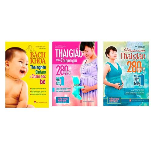 Combo thai giáo theo chuyên gia, hình trình thai giáo theo chuyên gia và bách khoa thai nghén sinh nở và chăm sóc