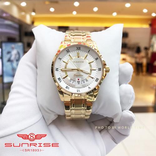 Đồng Hồ Nam Sunrise DM771SWA G [ Chính Hãng Full Box ] Kính Sapphire Chống Xước , Chống Nước