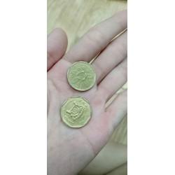 ĐỒNG 1 ĐÔ SINGAPO 10 ĐỒNG XU MAY MẮN NHẤT THẾ GIỚI tặng kèm túi Gấm
