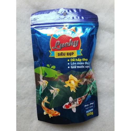Thức ăn cho cá Koi siêu đẹp hạt trung 100gram