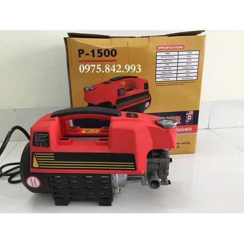 Máy rửa xe Power 1500W -dây đồng -cảm biến từ