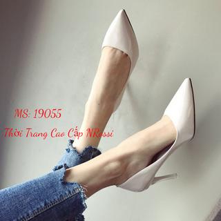 Giày Cao Gót Size Lớn 40 41 42 43 Màu Trắng - 19055 T thumbnail