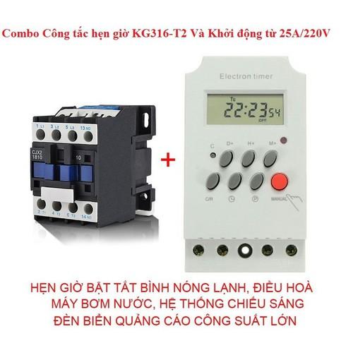 Bộ công tắc hẹn giờ và khởi động từ 25 A cuộn dây 220V - 6200391 , 16332537 , 15_16332537 , 265000 , Bo-cong-tac-hen-gio-va-khoi-dong-tu-25-A-cuon-day-220V-15_16332537 , sendo.vn , Bộ công tắc hẹn giờ và khởi động từ 25 A cuộn dây 220V