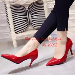 Giày Cao Gót 7 phân Size Ngoại Cỡ Màu Đỏ