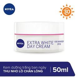 Kem Dưỡng Trắng Da và Thu Nhỏ Lỗ Chân Lông Ban Ngày Nivea Extra White Pore Minimiser Day Cream SPF30 50ml