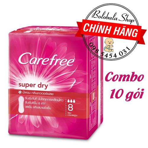 Combo 10 gói Băng Vệ Sinh Hằng Ngày Carefree Siêu Thấm Super Dry 8 Miếng - 6193505 , 16327454 , 15_16327454 , 50000 , Combo-10-goi-Bang-Ve-Sinh-Hang-Ngay-Carefree-Sieu-Tham-Super-Dry-8-Mieng-15_16327454 , sendo.vn , Combo 10 gói Băng Vệ Sinh Hằng Ngày Carefree Siêu Thấm Super Dry 8 Miếng