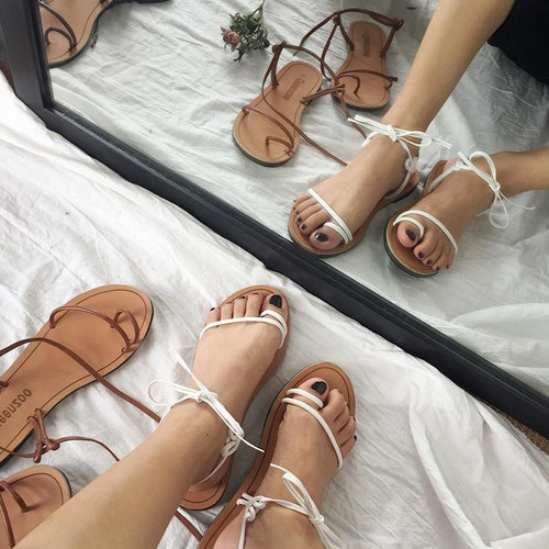 Giày Sandal Nữ Đế Bệt Dây Mảnh Thắt Nơ Nữ Tính - 6194399 , 16328046 , 15_16328046 , 250000 , Giay-Sandal-Nu-De-Bet-Day-Manh-That-No-Nu-Tinh-15_16328046 , sendo.vn , Giày Sandal Nữ Đế Bệt Dây Mảnh Thắt Nơ Nữ Tính