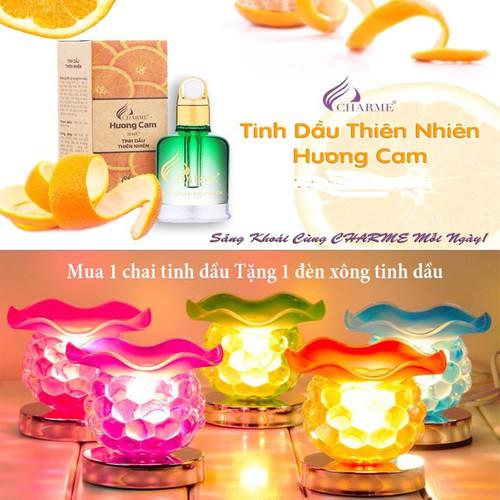 Tinh Dầu Thiên Nhiên Charme Hương Cam + Tặng Kèm Đèn Xông