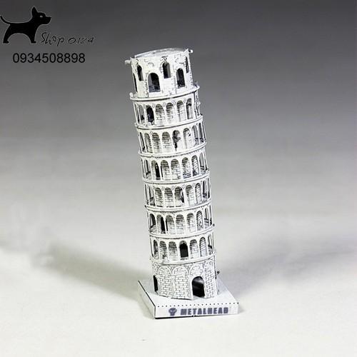 Đồ chơi lắp ghép mô hình 3D bằng thép bản màu tháp nghiên Pisa