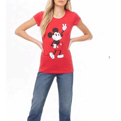Áo Thun F21 Đỏ In Hình Chuột Mickey - 0825