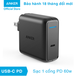 Sạc ANKER PowerPort Speed 1 cổng 60w USB-C Power Delivery