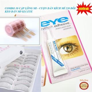 Combo Keo Dán Mi Giả Eye - 10 Cặp Mi Giả Lụa Đài Loan- Cuộn Dán Kích Mí 440 Chiếc - CB001 thumbnail