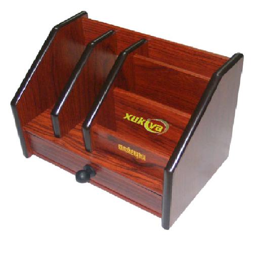 Hộp cắm bút gỗ 5 ngăn
