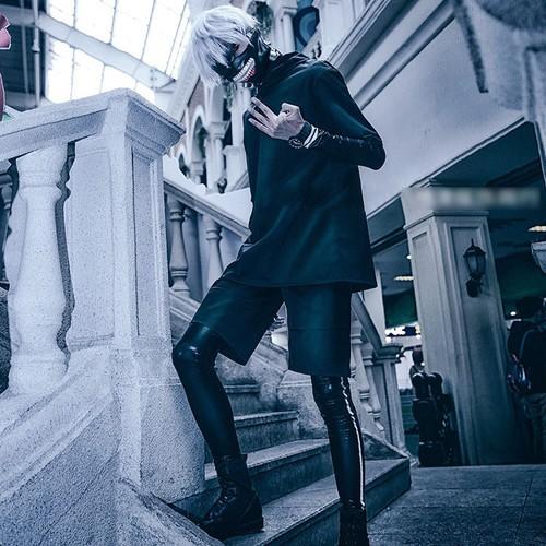 Bộ Mặt Nạ Cosplay Nhân Vật Ken Kaneki Truyện Tranh Tokyo Ghoul