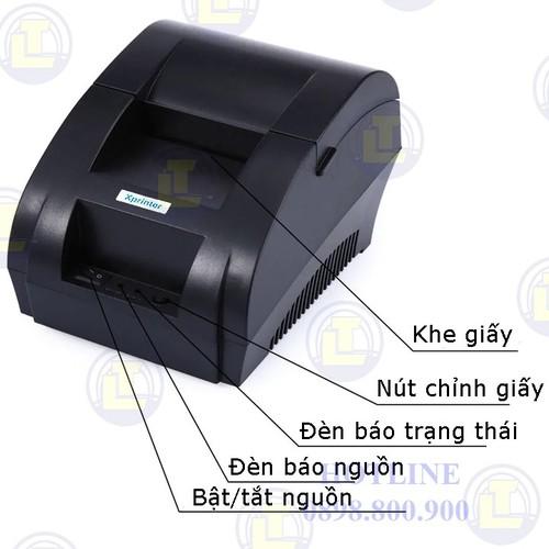 [GIÁ SOCK] Máy in bill giấy nhiệt Xprinter XP-58IIH khổ 58mm - 4536770 , 16347383 , 15_16347383 , 790000 , GIA-SOCK-May-in-bill-giay-nhiet-Xprinter-XP-58IIH-kho-58mm-15_16347383 , sendo.vn , [GIÁ SOCK] Máy in bill giấy nhiệt Xprinter XP-58IIH khổ 58mm