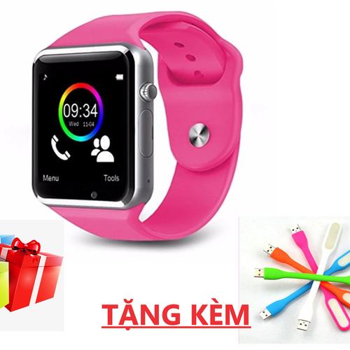 Đồng hồ thông minh Smartwatch A1 có khe gắn sim nghe gọi tặng đèn led dẻo USB - 6222685 , 16347869 , 15_16347869 , 350000 , Dong-ho-thong-minh-Smartwatch-A1-co-khe-gan-sim-nghe-goi-tang-den-led-deo-USB-15_16347869 , sendo.vn , Đồng hồ thông minh Smartwatch A1 có khe gắn sim nghe gọi tặng đèn led dẻo USB