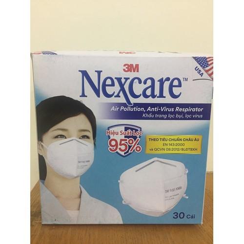 Hộp 30 khẩu trang 9501 lọc siêu bụi virus kháng khuẩn hiệu quả