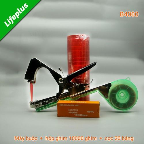 Bộ dụng cụ buộc cành +10.000 ghim +20 cuộn băng buộc