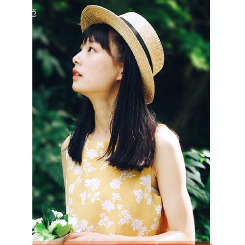 mũ cói thời trang, nón cói đầu bằng phong cách Hàn, mũ đi biển đẹp