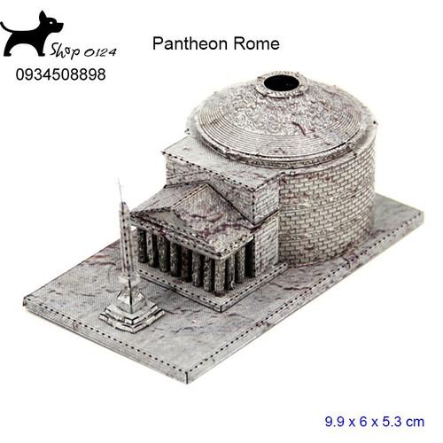 Đồ chơi lắp ghép mô hình 3D bằng thép bản màu đền thờ Rome