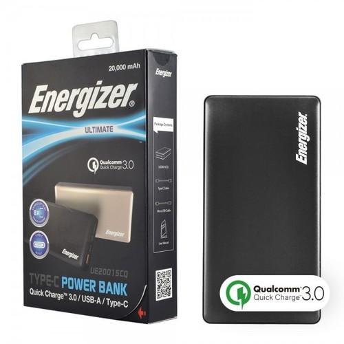 Pin sạc dự phòng Energizer 20,000mAh màu đen - UE20015CQBK