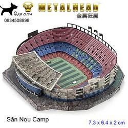 Đồ chơi lắp ghép mô hình 3D bằng thép bản màu sân Nou Camp