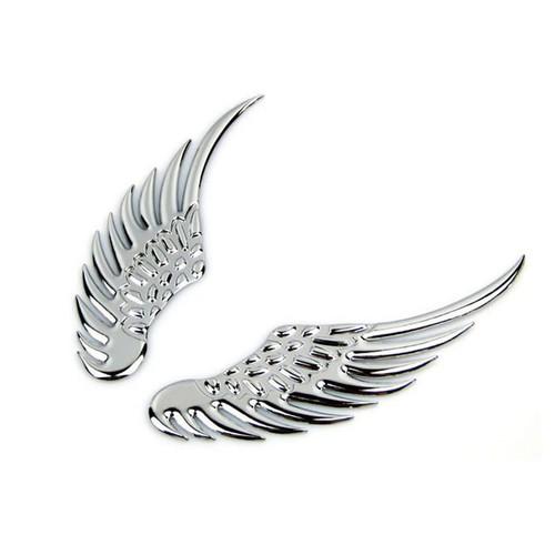 Bộ đôi cánh thiên thần dán trang trí xe hơi - Mầu Bạc