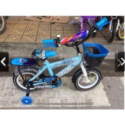 Xe đạp trẻ em bánh 16 có giỏ, đệm ngồi cho bé 5-7t