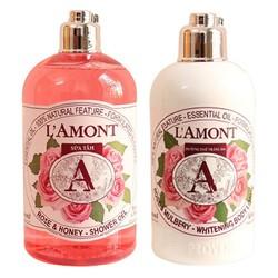 Combo Sữa tắm 500ml và Dưỡng thể 250ml LAmont En Provence Hương Hoa Hồng