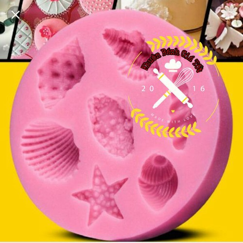 khuôn silicon 4d ốc sò