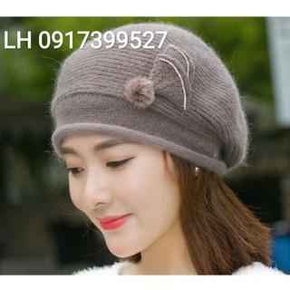 Nón mũ Len beret nữ thời trang Hàn Quốc mới L121901 - L121901a thumbnail