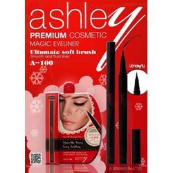 Kẻ Mắt Bút Lông Ashley Magic Đỏ A100 Đen